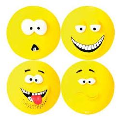 Zabawka uśmiech płaski piszczący żółty dla pieska. Średnica 10cm. TRIXIE