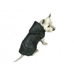 Płaszczyk pikowany z kapturem dla psa. Różne rozmiary. Długość od 28cm do 40cm. Kolor szary.