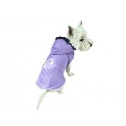 Płaszczyk ocieplany dla psa. PRODUKT POLSKI. Różne rozmiary. Długość od 26cm do 38cm. Kolor liliowy.
