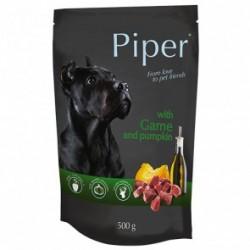 Dolina Noteci PREMIUM PIPER - karma mokra z dziczyzną i dynią w saszetce 500g.  Dla psów wszystkich ras.