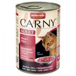Animonda Carny - karma mokra w puszce dla kotów. 400g. Wołowina i serca.