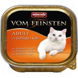 Animonda vom feinsten - karma mokra dla dorosłych kotów. Z drobiem i cielęciną. 100g.