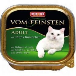 Animonda vom feinsten - karma mokra dla dorosłych kotów. Z indykiem i królikiem. 100g.