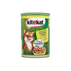 Kitekat mokra karma w puszce dla kota. Z kurczakiem. 400g.