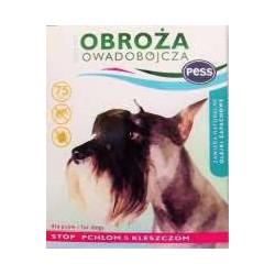 Obroża owadobójcza zapachowa PESS-PER 75cm przeznaczona do zwalczania pcheł, kleszczy na skórze i w sierści psów.