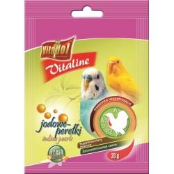 Witaminy dla papugi falistej i innych ptaków JODOWE PEREŁKI VITAPOL - Suplement diety. 20g.