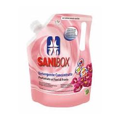 SANIBOX- cudowny zapach frezji. Płyn myjący pochłaniający nieprzyjemne zapachy. 1000ml.