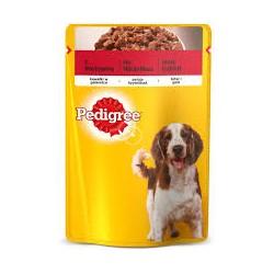 Pedigree saszetka dla dorosłych psów wszystkich ras. 100g. Z wołowiną w galaretce.