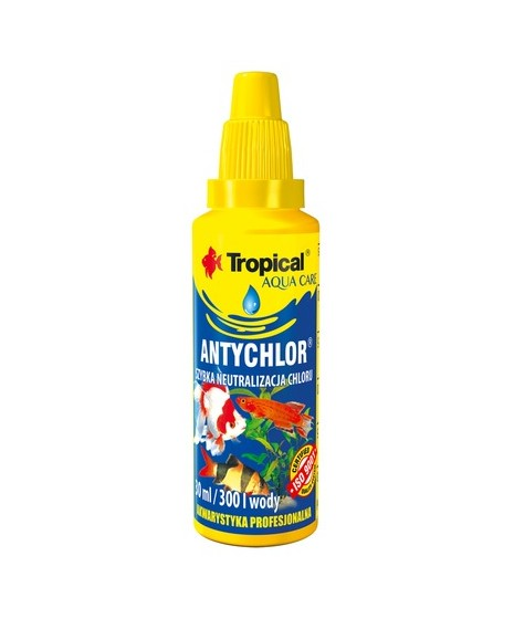 ANTYCHLOR Tropical- uzdatnianie surowej wody wodociągowej. Do akwarium. 30ml.