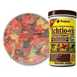 ICHTIOVIT- wieloskładnikowy płatkowany pokarm dla wszystkich ryb akwariowych. 250ml.