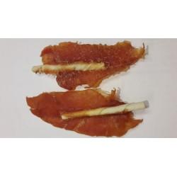 Filet z kurczaka na patyku. Pyszna przekąska. Patyczek wapniowany. Długość 10cm.