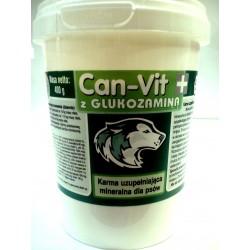 CanVit- mieszanka witaminowo-mineralna w proszku dla psów. Z dodatkiem glukozaminy. waga: 400g