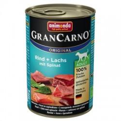 Animonda Grancarno-mokra karma dla psa zawierająca dużo mięsa oraz wysokowartościowych składników. Z łososiem i ziemniakami.