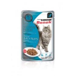 SOCZYSTE FILECIKI z pstrągiem- saszetka BENEK dla kota 85g.
