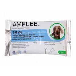 Krople przeciw pchłom i kleszczom AMFLEE dla psów o wadze 20-40 kg .