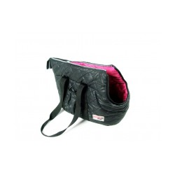 Torba transporterowa czarna pikowana dla psa .Długość 36cm, szerokość 21cm, wysokość 25cm.