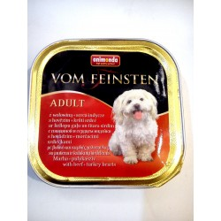 Animonda Vom Feinsten- tacka dla psa dorosłego z wołowiną i sercami indyczymi. Waga 150g.