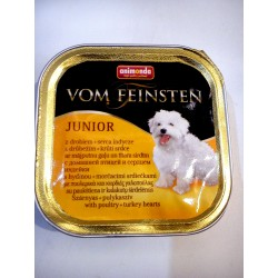 Animonda Vom Feinsten- tacka dla psa juniora z drobiem i sercami indyczymi. Waga 150g.