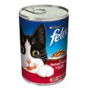 Puszka dla kota FELIX 400g z wołowiną i indykiem - mokra karma w sosie.