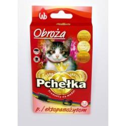 Obroża insektobójcza PCHEŁKA przeciw pchłom i kleszczom dla kota. 20-30cmcm. Kolorowa. Regulowana.