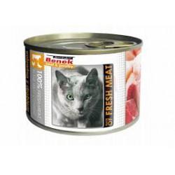 BENEK - karma mokra dla kota w puszce 195g. Z wołowiną i drobiem.