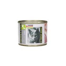 BENEK - karma mokra dla kota w puszce 195g. Z indykiem i kaczką.
