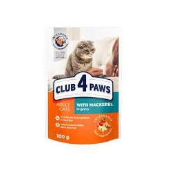 Club 4 Łapy- saszetka dla kota. Z makrelą w sosie. 100g.