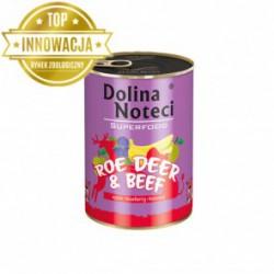 Dolina Noteci Premium SUPERFOOD - karma dla psów dorosłych sarna+wołowina. 400g