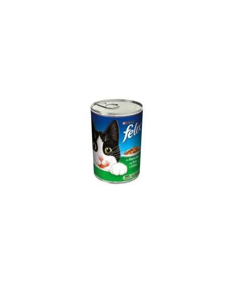Puszka dla kota FELIX 100g z kaczką i królikiem - mokra karma w sosie.