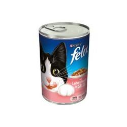 Puszka dla kota FELIX 400g z łososiem i pstrągiem - mokra karma w galaretce