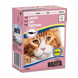 BOZITA karma mokra dla kota z kurczakiem w galaretce. 370g. Pakowana w kartonik.  92% mięsa.