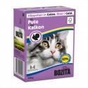 BOZITA karma mokra dla kota z indykiem w galaretce. 370g. Pakowana w kartonik.  92% mięsa.