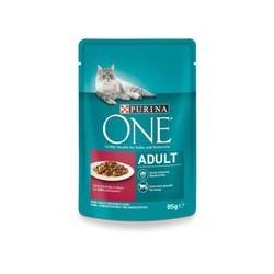 Saszetka dla kota PURINA ONE  - mokra karma dla kota z wołowiną i marchewką. 85g