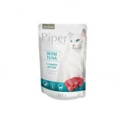 Dolina Noteci Piper - karma mokra dla kotów sterylizowanych. Z tuńczykiem. Bez zbóż. Zawiera taurynę. 100g.