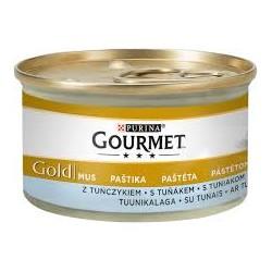 Gourmet Gold puszeczka dla kota 85g w musie - mokra karma z tuńczykiem. Super jakość, super smak.