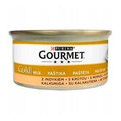 Gourmet Gold puszeczka dla kota 85g w musie - mokra karma z indykiem. Super jakość, super smak.