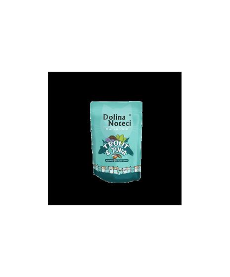 Dolina Noteci Superfood - karma bezzbożowa dla kota. Z tuńczykiem i pstrągiem. 85g.