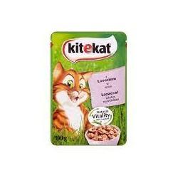 Saszetka dla kota KITEKAT 100g z łososiem. Mokra karma.