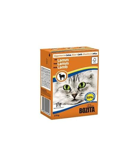 BOZITA karma mokra dla kota z jagnięciną w galaretce. 370g. Pakowana w kartonik.  92% mięsa.