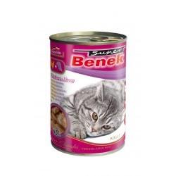 BENEK - mokra karma dla kota 415g. Super chunks z kurczakiem i wątróbką.