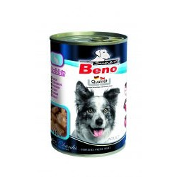 BENEK - mokra karma dla psa 415g. Super beno kawałki w sosie z królikiem.
