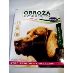 Obroża owadobójcza bezzapachowa PESS-PER przeciw pchłom i kleszczom 75cm dla psów.