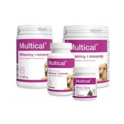 Witaminy MULTICAL Dolfos -zawiera witaminy, aminokwasy, mikro- i makroelementy.