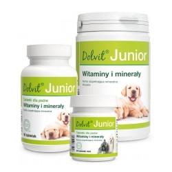 Witaminy DOLVIT JUNIOR Dolfos -Witaminowo-mineralny preparat dla szczeniąt i młodych psów. Karma uzupełniająca mineralna.